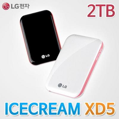 LG정품 LG외장하드 아이스크림 XD5 2TB USB3.0 HDD