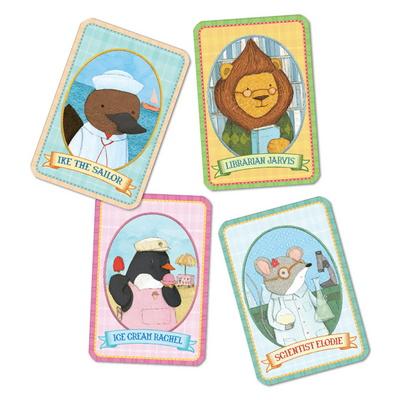 이부 동물마을 올드메이드 카드게임 / 5세 이상, 2-4인, 유아, 가족