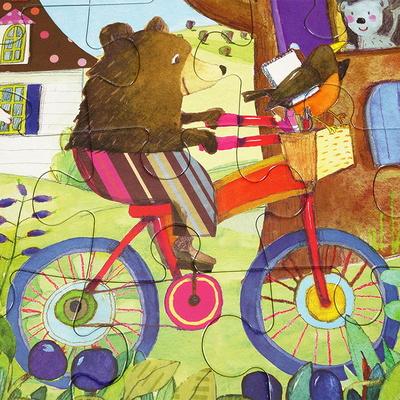자전거탄곰 20피스 퍼즐 / 3세이상