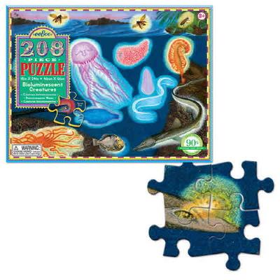 이부 발광생물 208피스 퍼즐 (8세 이상, 빅사이즈 피스, 완성 46X61cm)