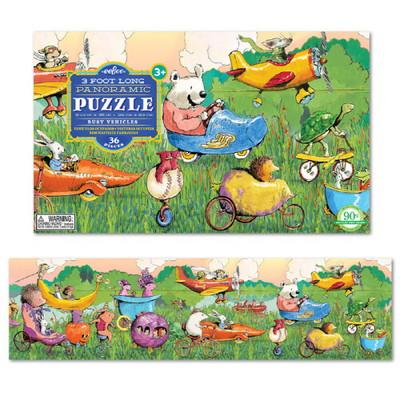 이부 동물 탈것들 파노라마 36피스 퍼즐 (3세 이상, 빅사이즈피스, 완성 24X92cm)