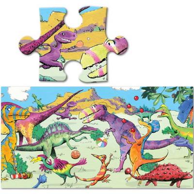 이부 한가한 공룡들 파노라마 36피스 퍼즐 (3세 이상, 빅사이즈피스, 완성 24X92cm)