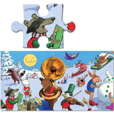 이부 스노우 파티 파노라마 36피스 퍼즐 (3세 이상, 빅사이즈피스, 완성 24X92cm)