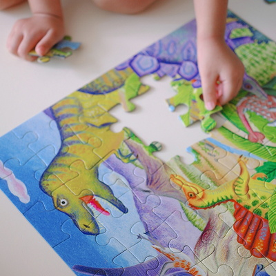 어린이퍼즐 이부 공룡섬 64피스