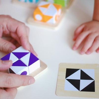 큐비츠 주니어 퍼즐 보드게임 (1-4인, 3세 이상, 유아)