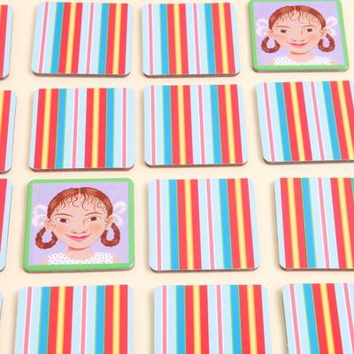 이부 얼굴기억하기 메모리게임 / 5세 이상, 1인 이상, 24쌍, 전세계어린이 얼굴매칭