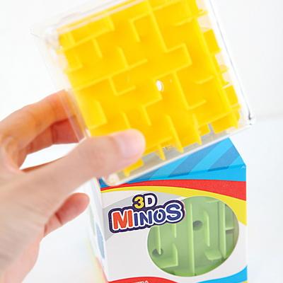 3D 미노스 큐브 퍼즐게임 / 3세이상 1인 구슬미로