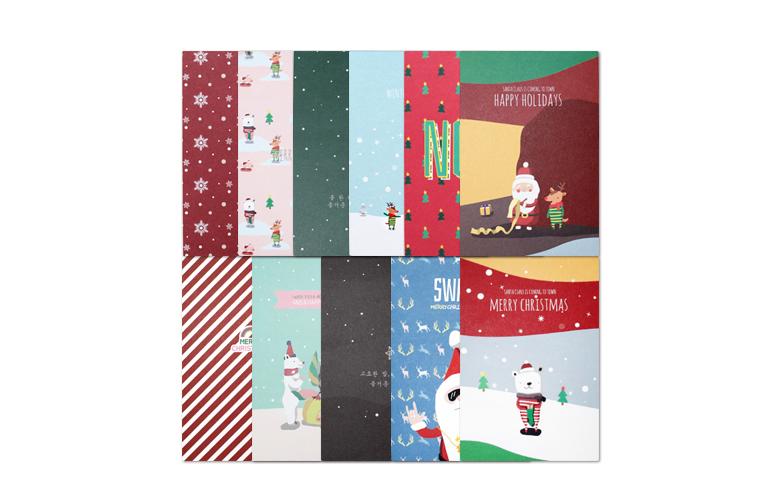 크리스마스 카드엽서 에디션_Vol.01 - 종이세포, 5,500원, 카드, 크리스마스 카드