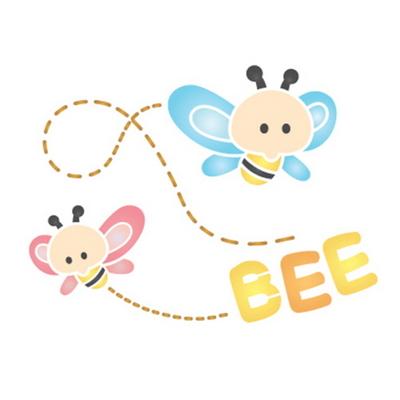 스텐실도안 ST-116. 꿀벌