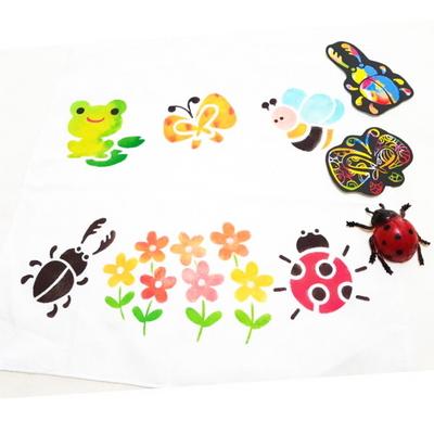 스텐실 손수건 만들기-개구리와곤충(3인세트)
