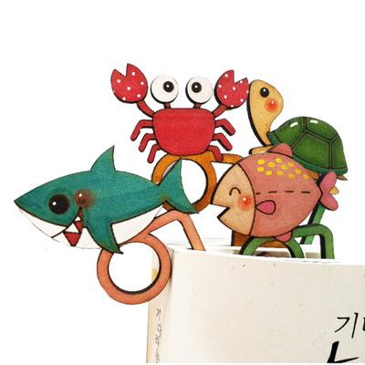 캐릭터우드DIY - 바다생물손가락책갈피