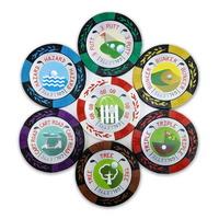 카지노칩볼마커 골렛칩 골프게임칩 7개