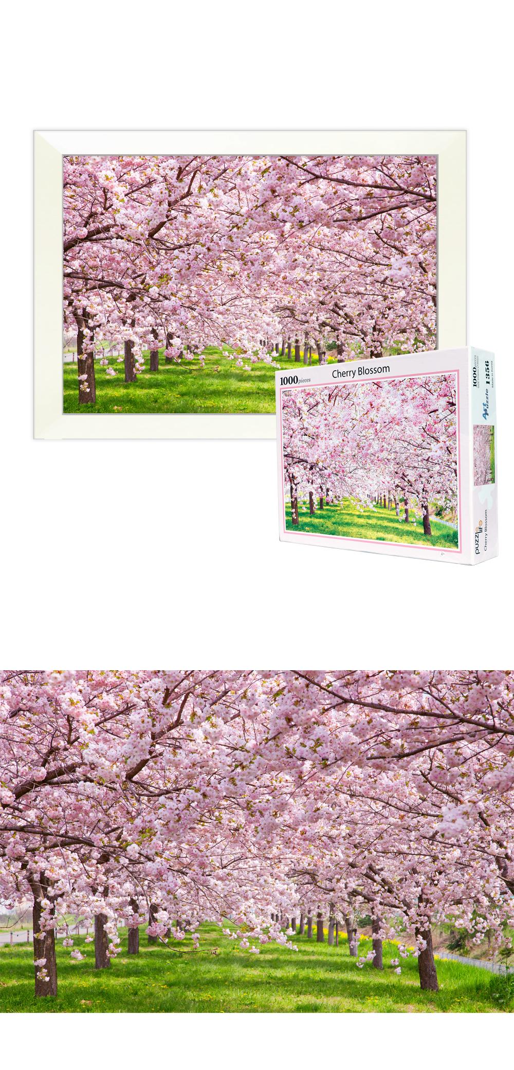 1000pcs 벚꽃  PL1356 - 퍼즐라이프, 18,000원, 조각/퍼즐, 풍경 직소퍼즐