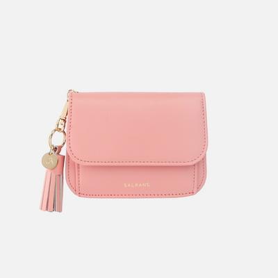 Dijon N301R Round Card Wallet apricot blush