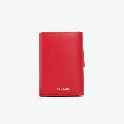 REIMS W014 Folder3 pocket Wallet Cherry Red