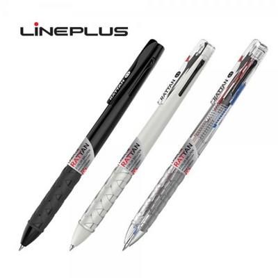 라인플러스 3색 볼펜 0.5mm 라탄, 1자루
