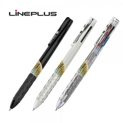 라인플러스 3색 볼펜 0.7mm 라탄, 1자루