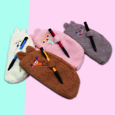 복실토끼 펜꽂이 봉제필통 파우치/펜슬케이스 - 택1