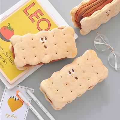 푹신푹신한 쿠키 크래커 파우치 봉제필통/펜슬케이스
