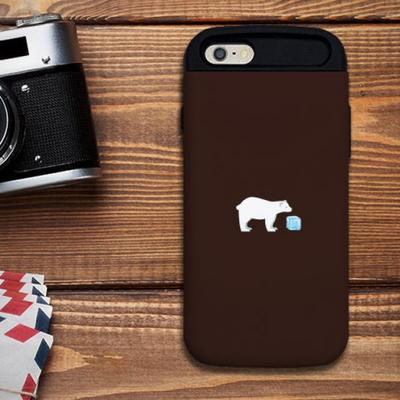 [애플] 북극곰 다크브라운 S1041D 슬라이더 케이스