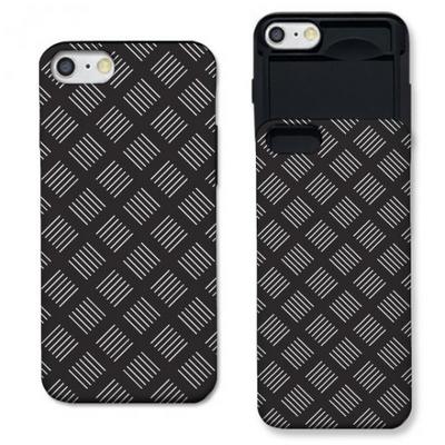 아이폰6 라인 패턴 블랙 슬라이더 케이스