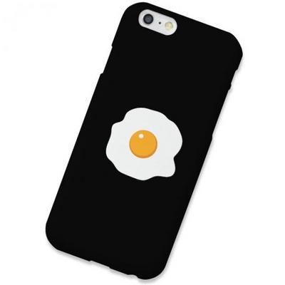 LG Q9 계란후라이 블랙 하드 케이스