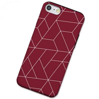 아이폰XR polygon 딥레드 범퍼 케이스