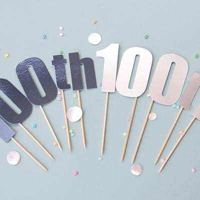 1st or 100th 케이크토퍼