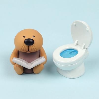 수염해달 랏코 화장실