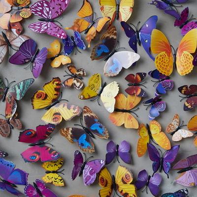 나비장식 홈데코 스티커 (12ea 1set)