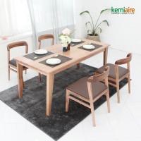 산토리노 4인 원목식탁SET(의자형) KRS-422