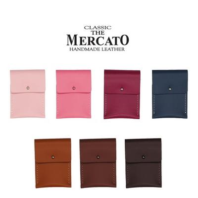 메르카토-덮개목걸이카드지갑만들기 가죽공예DIY