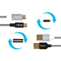 클레버 타키온코어 DS 퀵차지3.0 지원 마이크로 5핀 양면 케이블