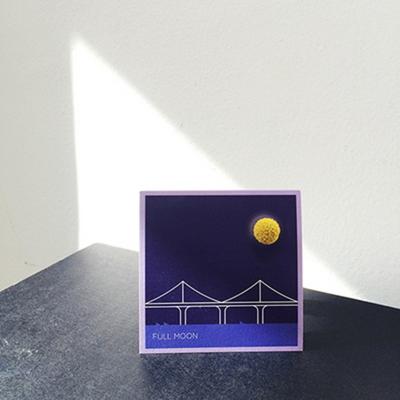 드라이플라워카드 - full moon