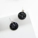 제이로렌 M01042 BLACK LABEL 블랙라벨 블랙 컬러의 시크한 스와로브스키 서클 귀걸이