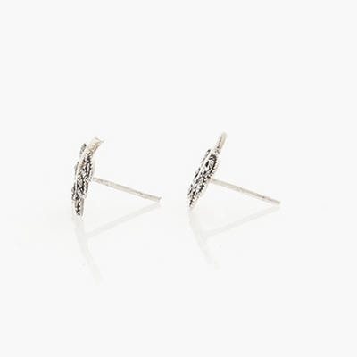 제이로렌 M01333 마카사이트 나뭇잎 실버 귀걸이