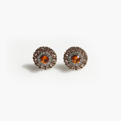 제이로렌 M01322 오렌지 큐빅 귀걸이