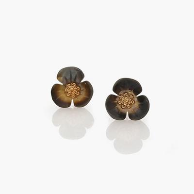 제이로렌 M01404 향기를 전하는 엔틱 꽃송이 자개 골드도금 귀걸이 (실버925)