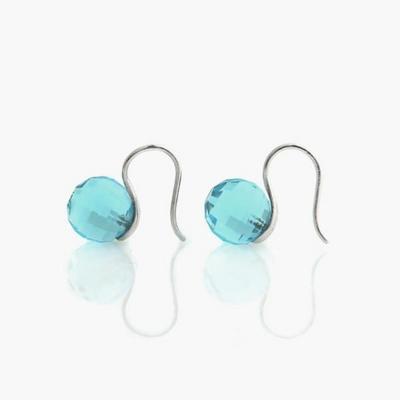 제이로렌 M01406 세레니티 블루 컬러의 지르코니아 귀걸이