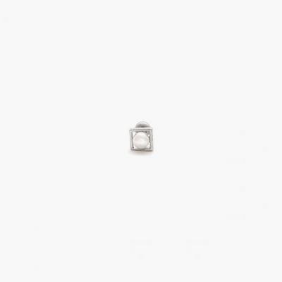제이로렌 M01457 시크한 진주 써지컬스틸 피어싱