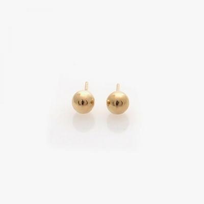 제이로렌 M01204 심플한 골드 볼 10K 금 귀걸이 5mm