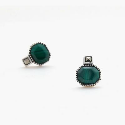 제이로렌 M01490 마카사이트 셋팅 공작석 원석 귀걸이