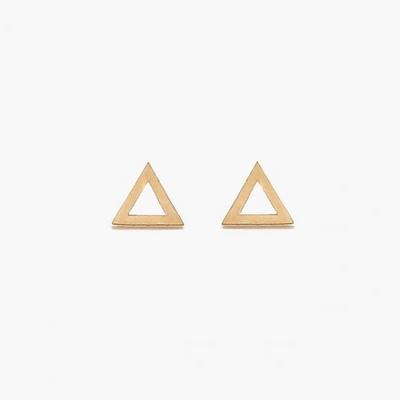 제이로렌 G0117 삼각형 모양 기본 10K 골드 귀걸이