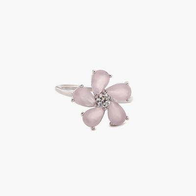 제이로렌 R0403 들꽃모양 피치문스톤큐빅 반지