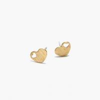제이로렌 M02063 골드컬러 하트모양 귀걸이