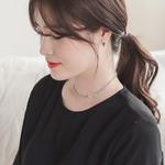 제이로렌 M02096 12월탄생석 터키석 마름모 귀걸이