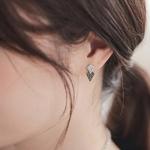 제이로렌 8M02096 12월탄생석 터키석 마름모 귀걸이