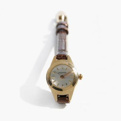 제이로렌 9ETC0012 레트로 유광 브라운가죽 빈티지시계