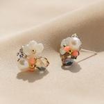 제이로렌 9M02559 코랄데이 크리스탈 자개꽃 귀걸이