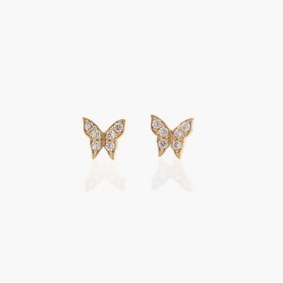 제이로렌 9G0104 꽃 나비 14K 큐빅 귀걸이